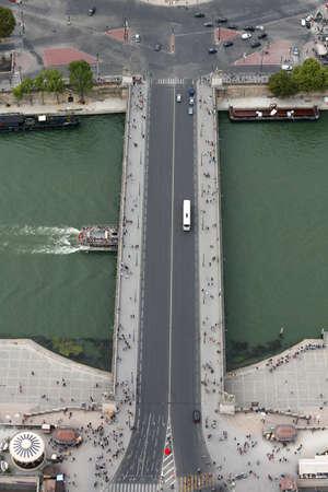 Long bridge called Jena Bridge or Pont du Iena in french language in Paris France