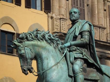 Foto per Equestrian statue of Cosimo I in Florence - Immagine Royalty Free