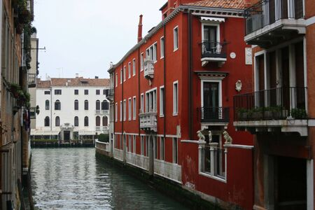 A view of Venice from one of its calles