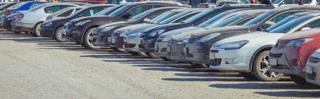 Photo for Used car parking on the city street - Royalty Free Image