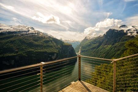 GEIRANGER, NORWAY Ornesvingen viewpoint