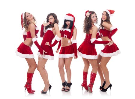 picture of a group of santa women talking and laughing