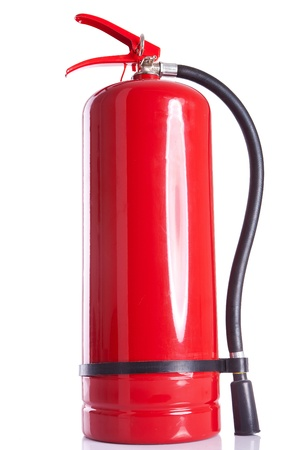picture of a fire  extinguisher on white background