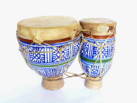 Small ceramic double bongos from Morocco