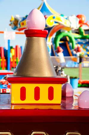Garish toys in the amusement park