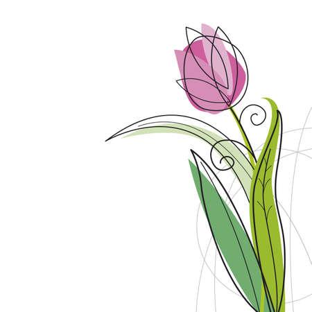 Illustration pour Tulip design on white background - image libre de droit