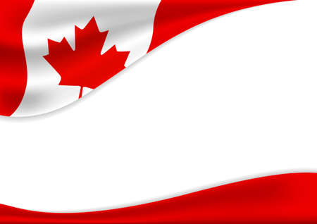 Illustration pour Canada day banner background design of flag with copy space vector illustration - image libre de droit