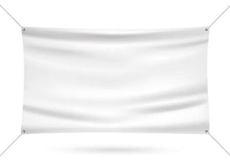 Illustration pour White mock up vinyl banner vector illustration - image libre de droit