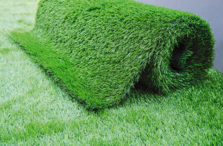 Photo for Artificial grass in the garden - Royalty Free Image