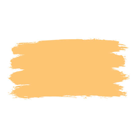 Use it in all your designs. Yellow paint brushstroke ink sketch drawing created in handmade technique. Quick and easy recolorable graphic element in technique vector illustration