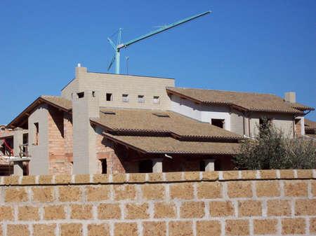 Foto per casa in costruzione - Immagine Royalty Free