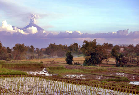 Semeru volcano view from Malang town