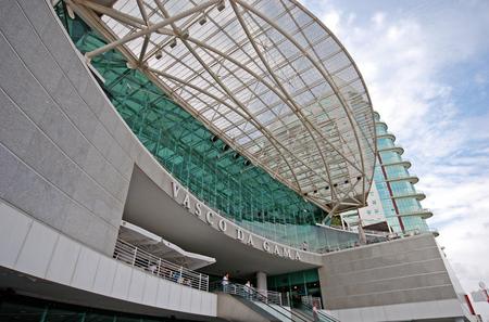 LISBON, PORTUGAL - SEPTEMBER 28, 2009: Vasco da Gama Shopping Centre in Parque das Nacoes (Park of Nations), Lisbon, Portugal. One of the largest shopping malls in Lisbon