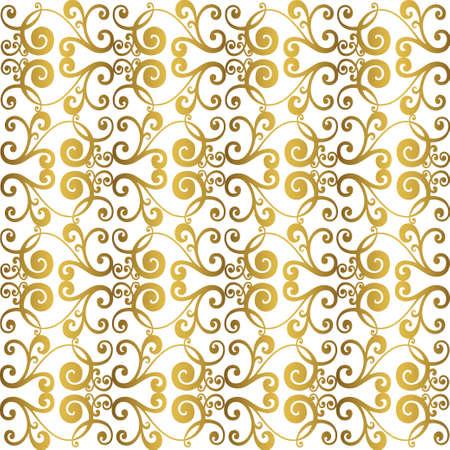 Illustration pour Retro pattern antique style acanthus. Ornamental border. Vintage baroque ornament. - image libre de droit
