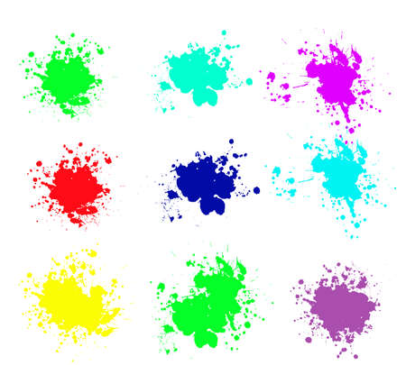 Illustration for Grunge splatters. Abstract background. Grunge text banners. Color ink splashes. - Royalty Free Image