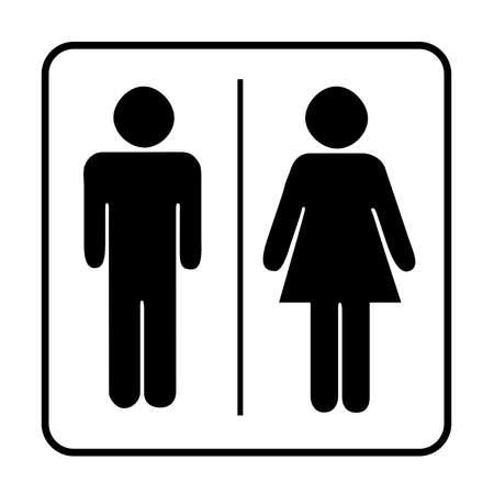 Ilustración de Toilets Icon Unisex. Vector man  woman icons. WC sign icon. Toilet symbol - Imagen libre de derechos