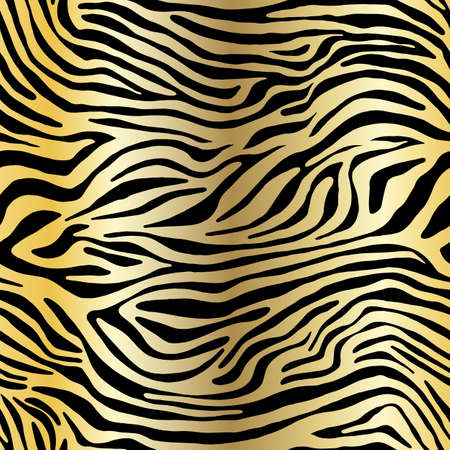 Illustration pour Vector animal print. Zebra ornament. Seamless pattern - image libre de droit