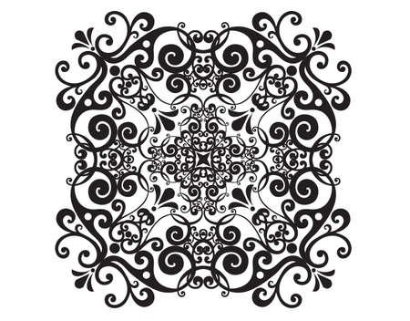 Illustration pour Vector damask vintage baroque ornament. Retro pattern antique style acanthus. Tile, wallpaper decor element. - image libre de droit