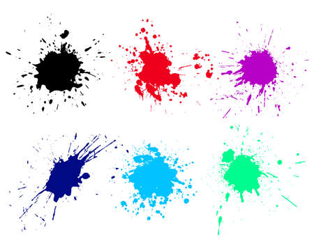 Photo pour Grunge splatters. Abstract background. Grunge text banners. Color ink splashes. - image libre de droit
