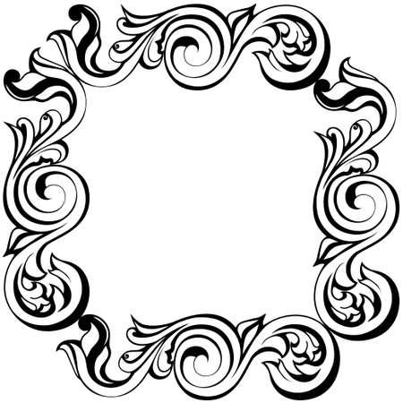 Illustration pour Vector damask vintage baroque ornament. Retro pattern antique style acanthus. ... Vector illustration - image libre de droit