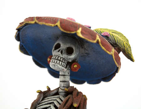 Tradtional mexican representation of the dead as a high class society
