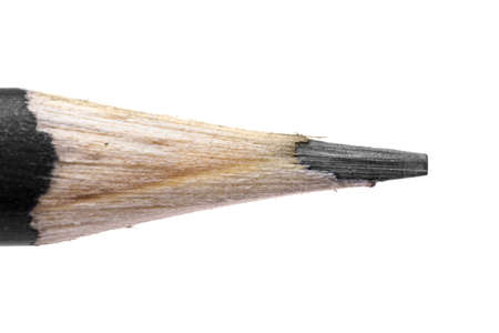 Pencil shot over white background