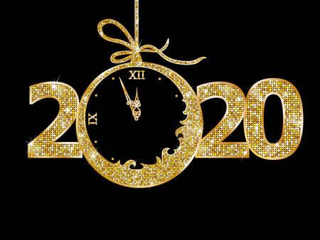 Illustration pour Christmas ball 2020 new year - image libre de droit