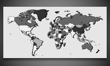 World Map with Border