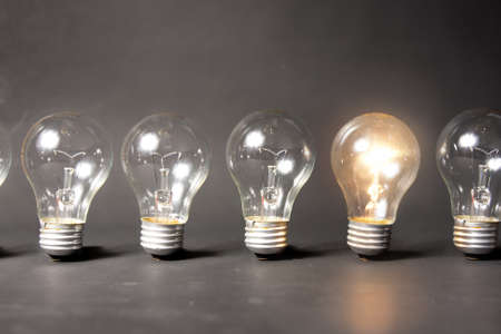 Photo for bright idea concept with light bulb - Royalty Free Image