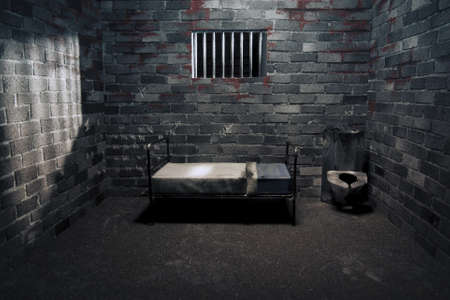 dark prison cell at night