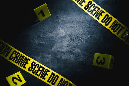 Photo for crime scene with dramatic lighting - Royalty Free Image