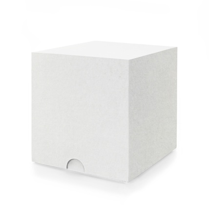 a white box isolated on white background