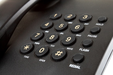 close up Digital desk phone isolated on a white background