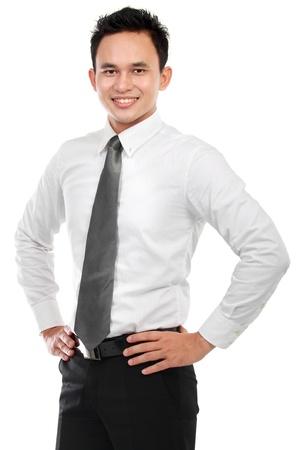 Foto de Portrait of a successful business man isolated on white background - Imagen libre de derechos