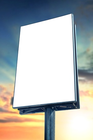 Blank billboard against sunset sky, for more billboard visit our portfolio