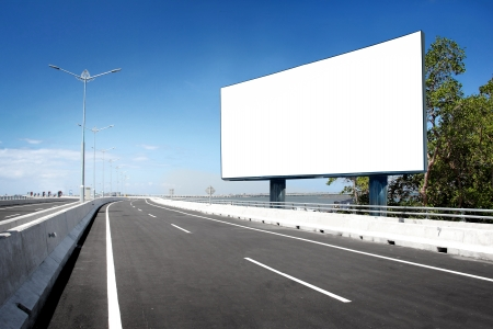 Photo for blank billboard or road sign on the highway - Royalty Free Image