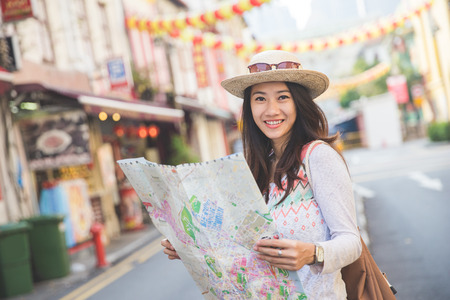 Photo for Woman sightseeing - Royalty Free Image