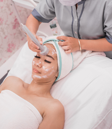Photo for beauty treatment using radio frequency equipment - Royalty Free Image