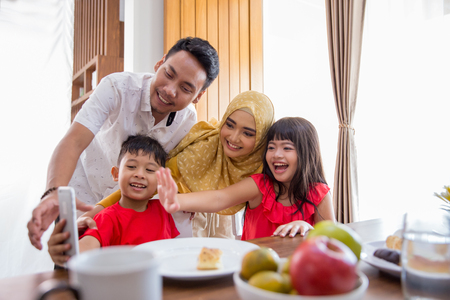 Photo for family take picture together - Royalty Free Image