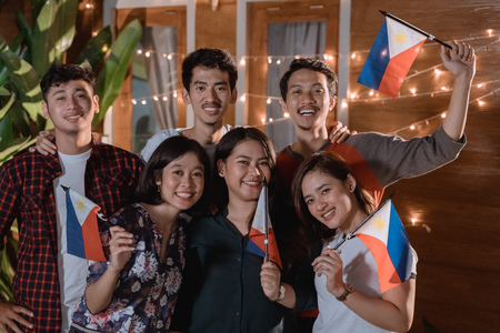 Foto de friend celebrating philippines national independence day - Imagen libre de derechos