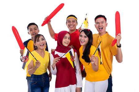 Photo pour supporter of brunei national team - image libre de droit