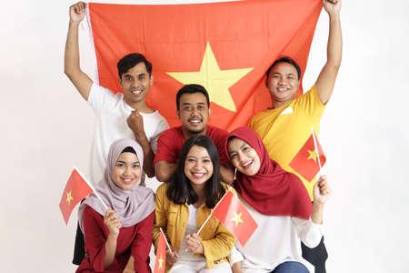 Foto de vietnamese people celebrating vietnam national day - Imagen libre de derechos