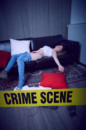 Photo for crime scene illustration background. - Royalty Free Image
