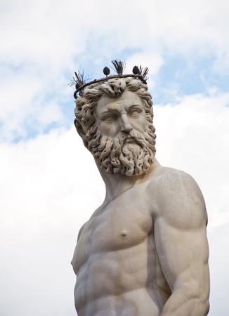 The fountain of Neptune by Bartolomeo Ammannati, in the Piazza della Signoria, Florence, Italy
