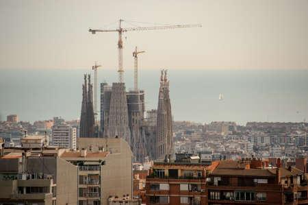 Foto de BARCELONA, SPAIN - Cathedral of Sagrada Familia. Basilica and Expiatory Church of the Holy Family - Imagen libre de derechos