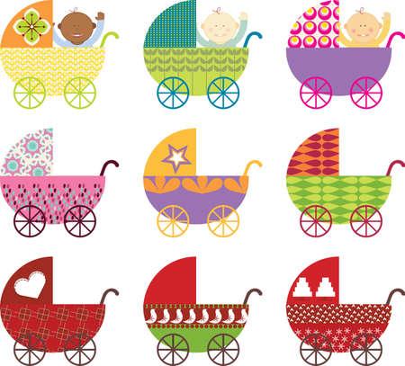 Illustration pour Baby Buggy - image libre de droit