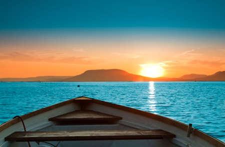 A beautiful Sunset seen the fishing boat