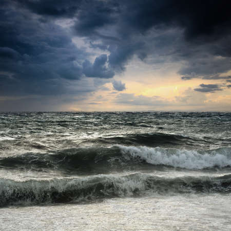 View of storm seascape in th