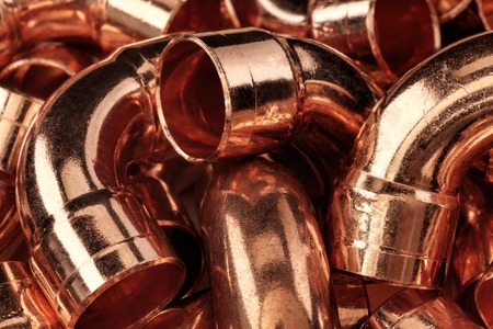 Copper pipes - can be used for abstract background.