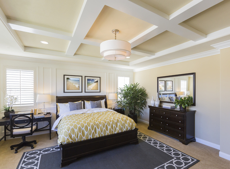 Dramatic Interior of A Beautiful Master Bedroom.